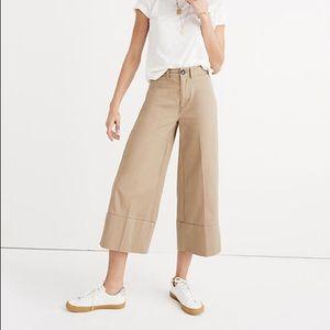 Light Latte Madewell Langford Wide Leg Crop Pants